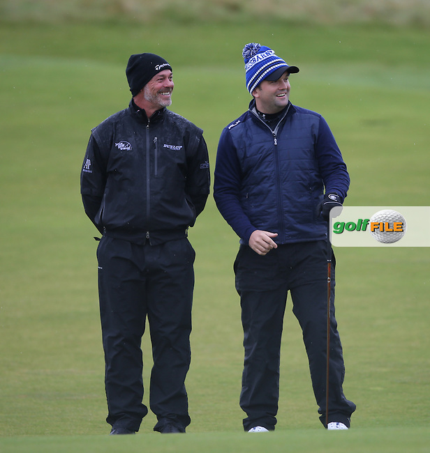 Darren Clarke (NIR) with amateur Andrew Harding during R3 at Kingsbarns of the 2014 Alfred Dunhill Links Championship, The Old Course, St Andrews, Fife, Scotland. Picture:  David Lloyd / www.golffile.ie