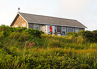 A beach house along the south shore of Chilmark on Martha's Vineyard...