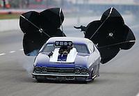 May 15, 2015; Commerce, GA, USA; NHRA pro mod driver Jim Whiteley during qualifying for the Southern Nationals at Atlanta Dragway. Mandatory Credit: Mark J. Rebilas-USA TODAY Sports