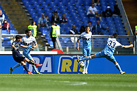 Emanuel Vignato of AC Chievo Verona scores goal of 0-1 during the Serie A 2018/2019 football match between SS Lazio and AC Chievo Verona at stadio Olimpico, Roma, April, 20, 2019 <br /> Photo Antonietta Baldassarre / Insidefoto