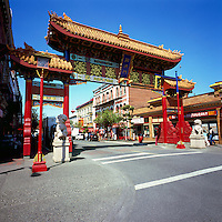 Chinese Gate of Harmonious Interest - Victoria Chinatown National Historic Site, BC, Vancouver Island, British Columbia, Canada (Oldest Chinatown in Canada)