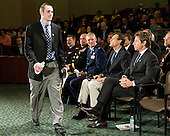 Austin Smith (Colgate) enters the auditorium. - The 2012 Hobey Baker Award ceremony was held at MacDill Air Force Base on Friday, April 6, 2012, in Tampa, Florida.