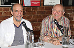 F. Murray Abraham and Terrence McNally during the press conference for 'It's Only a Play' at Joe Allen Restaurant on August 19, 2014 in New York City.