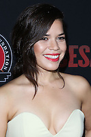 "HOLLYWOOD, LOS ANGELES, CA, USA - MARCH 20: America Ferrera at the Los Angeles Premiere Of Pantelion Films And Participant Media's ""Cesar Chavez"" held at TCL Chinese Theatre on March 20, 2014 in Hollywood, Los Angeles, California, United States. (Photo by David Acosta/Celebrity Monitor)"