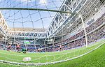 Stockholm 2014-08-31 Fotboll Allsvenskan Djurg&aring;rdens IF - Malm&ouml; FF :  <br /> Djurg&aring;rdens Sebastian Andersson g&ouml;r 2-0 i den f&ouml;rsta halvleken bakom Malm&ouml;s m&aring;lvakt Robin Olsen <br /> (Foto: Kenta J&ouml;nsson) Nyckelord:  Djurg&aring;rden DIF Tele2 Arena Malm&ouml; MFF remote remotekamera jubel gl&auml;dje lycka glad happy inomhus interi&ouml;r interior