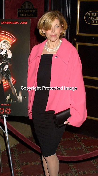 "©2002  AURA BLANDINO/ HUTCHINS PHOTO."" CHICAGO""  SPECIAL SCREENING BENIFITING GLAAD.THE ZIEGFELD THEATRE .NEW YORK, NEW YORK.12/18/02..CHRISTINE BARANSKI"