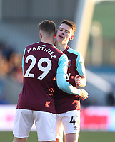 West Ham United's Toni Martinez and Declan Rice<br /> <br /> Photographer Rob Newell/CameraSport<br /> <br /> The Emirates FA Cup Third Round - Shrewsbury Town v West Ham United - Sunday 7th January 2018 - New Meadow - Shrewsbury<br />  <br /> World Copyright &copy; 2018 CameraSport. All rights reserved. 43 Linden Ave. Countesthorpe. Leicester. England. LE8 5PG - Tel: +44 (0) 116 277 4147 - admin@camerasport.com - www.camerasport.com