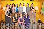 Enjoying her 70th birthday was Sheila Breen from Abbeyfeale, pictured here with her children and grand children last Saturday night in The Devon Inn, Templeglantine. F l-r: Carol McIntosh, Marie Bateman, Sheila Breen, Eileen and Mick Breen. B l-r: Chloe McIntosh, Sherrie Bateman, Sammi McIntosh, David Breen, Kiel Bateman, Seamus Breen and Lacey Bateman.