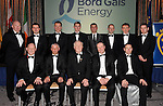 Dave Kirwan, Managing Director, Bord Gais Energy, and Robert Frost, Chairman, Munster GAA pictured with referees from Munster who were honoured at the Bord G&aacute;is Energy Munster GAA Sports Star of the Year Awards in The Malton Hotel, Killarney on Saturday.  Picture by Don MacMonagle<br /> <br /> PR photo from Munster Council