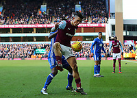Jack Grealish of Aston Villa battling for the ball<br /> <br /> Photographer Leila Coker/CameraSport<br /> <br /> The EFL Sky Bet Championship - Aston Villa v Birmingham City - Sunday 11th February 2018 - Villa Park - Birmingham<br /> <br /> World Copyright &copy; 2018 CameraSport. All rights reserved. 43 Linden Ave. Countesthorpe. Leicester. England. LE8 5PG - Tel: +44 (0) 116 277 4147 - admin@camerasport.com - www.camerasport.com