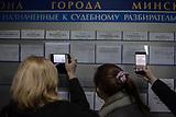 Während und nach der Proteste in Belarus