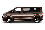 Car Driver side profile view of a 2018 Toyota Proace-Verso VIP 5 Door Minivan Side View