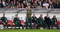 FUSSBALL  1. BUNDESLIGA  SAISON 2011/2012  31. SPIELTAG 13.04.2012 VfB Stuttgart - SV Werder Bremen Enttaeuschung Trainer Thomas Schaaf (SV Werder Bremen)