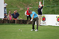 Carlos Rodiles on the 18th hole in the 3rd Round of the Open de Espana in Madrid...Photo NEWSFILE/Manus O'Reilly.(Photo credit should read Manus O'Reilly/NEWSFILE)....This Picture has been sent you under the condtions enclosed by:.Newsfile Ltd..The Studio,.Millmount Abbey,.Drogheda,.Co Meath..Ireland..Tel: +353(0)41-9871240.Fax: +353(0)41-9871260.GSM: +353(0)86-2500958.email: pictures@newsfile.ie.www.newsfile.ie.FTP: 193.120.102.198..