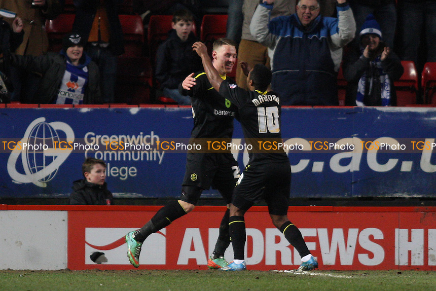 Connor Wickham of Sheffield Wednesday scores and celebrates - Charlton Athletic vs Sheffield Wednesday - Sky Bet Championship Football at the Valley, London - 29/12/13 - MANDATORY CREDIT: George Phillipou/TGSPHOTO - Self billing applies where appropriate - 0845 094 6026 - contact@tgsphoto.co.uk - NO UNPAID USE