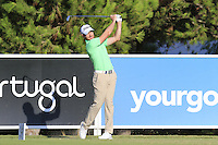 Brett Rumford (AUS) tees off the 8th tee during Thursday's Round 1 of the 2016 Portugal Masters held at the Oceanico Victoria Golf Course, Vilamoura, Algarve, Portugal. 19th October 2016.<br /> Picture: Eoin Clarke | Golffile<br /> <br /> <br /> All photos usage must carry mandatory copyright credit (&copy; Golffile | Eoin Clarke)