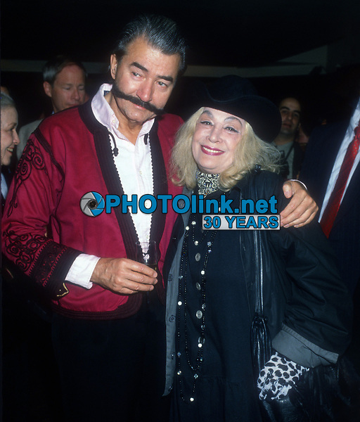 Leroy Neiman, Sylvia Miles, 1989, Photo By Michael Ferguson/PHOTOlink