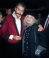 Leroy Neiman, Sylvia Miles, 1989, Photo By Michael Ferguson/PHOTOlink