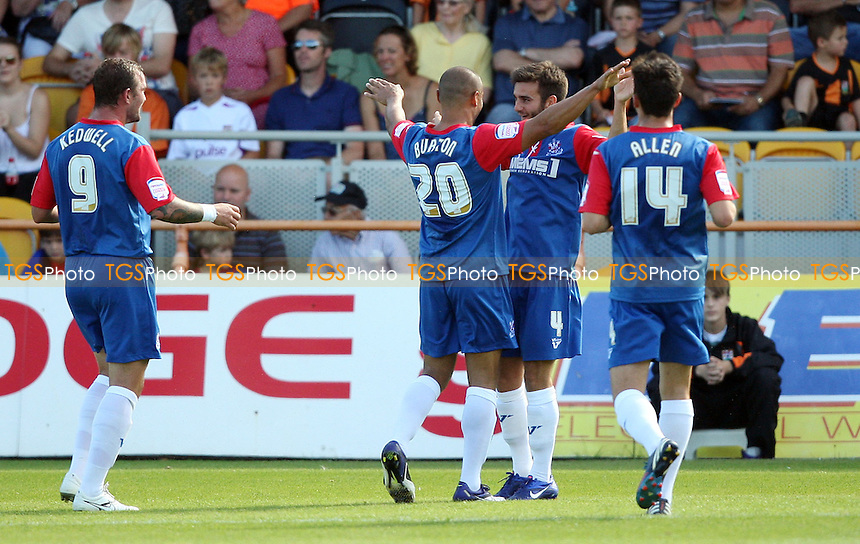 Jack Payne celebrates after scoring the 1st goal for Gillingham - Barnet vs Gillingham, League 2 at Underhill Stadium, Barnet - 08/09/12 - MANDATORY CREDIT: Rob Newell/TGSPHOTO - Self billing applies where appropriate - 0845 094 6026 - contact@tgsphoto.co.uk - NO UNPAID USE.
