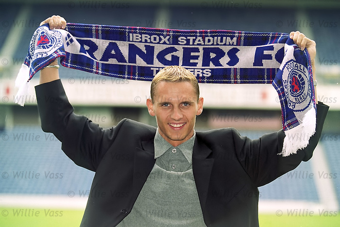 Danish wonderkid Peter Løvenkrands signs for Rangers in June 2000