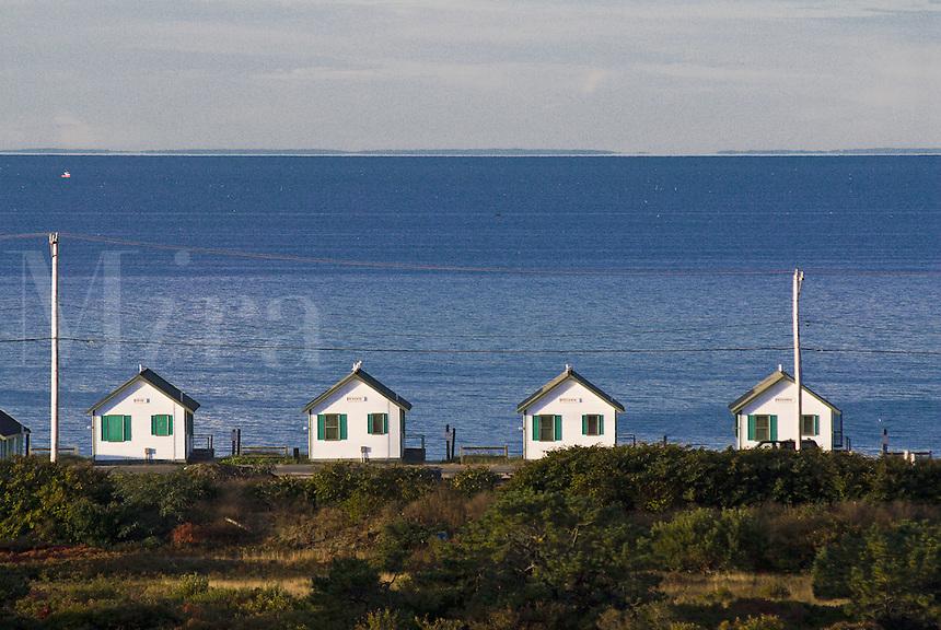 Row of cottages, Truro,Cape Cod, Massachusetts, USA.