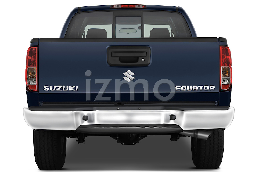 Straight rear view of a 2009 Suzuki Equator Extended Cab