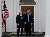 Former New York City Mayor Rudy Giuliani (L) poses with  United States President-elect Donald Trump at the clubhouse of Trump International Golf Club, in Bedminster Township, New Jersey, USA, 20 November 2016.<br /> Credit: Peter Foley / Pool via CNP