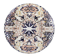 BNPS.co.uk (01202 558833)<br /> Pic: Duke's/BNPS<br /> <br /> A Den Haag charger with stylised decoration in tones of blue, white and yellow.<br /> <br /> A collection of pottery that belonged to late Blue Peter presenter John Noakes is being sold by his widow for around £10,000.<br /> <br /> The 29 pieces of Rozenburg porcelain were collected by the 1970s TV star right up until his death, three years ago in 2017.<br /> <br /> Since then they have been in the ownership of his wife Vicky who has now decided the time is right to put them on the market.