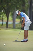 Keita NAKAJIMA (JPN) watches his putt on 9 during Rd 1 of the Asia-Pacific Amateur Championship, Sentosa Golf Club, Singapore. 10/4/2018.<br /> Picture: Golffile | Ken Murray<br /> <br /> <br /> All photo usage must carry mandatory copyright credit (&copy; Golffile | Ken Murray)