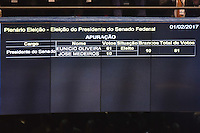 BRASÍLIA, DF, 01.02.2017 – PRESIDÊNCIA-SENADO – O presidente eleito do Senado, Eunicio Oliveira, durante Sessão no Senado após sua eleição, nesta quarta-feira, 01. (Foto: Ricardo Botelho/Brazil Photo Press)