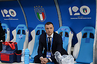 20180410 - FERRARA , ITALY : Belgian head coach Ives Serneels pictured during the female soccer game between Italy and the Belgian Red Flames , the fifth game in the qualificaton for the World Championship qualification round in group 6 for France 2019, Tuesday 10 th April 2018 at Stadio Paolo Mazza / Stadio Comunale in Ferrara , Italy . PHOTO SPORTPIX.BE | DAVID CATRY