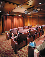 Home Theater With Custom Draperies