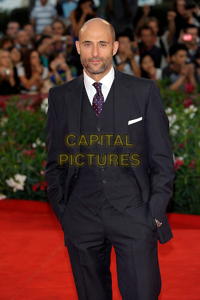 Mark Strong.The 'Tinker, Tailor, Soldier, Spy' premiere at the Palazzo del Cinema during the 68th Venice Film Festival, Venice, Italy..September 5th, 2011.half length black suit tie white shirt hand in pocket beard facial hair waistcoat .CAP/PL.©Phil Loftus/Capital Pictures.