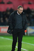 Steve Cooper Head Coach of Swansea City looks dejected during the Sky Bet Championship match between Swansea City and Millwall at the Liberty Stadium in Swansea, Wales, UK. Saturday 23rd November 2019