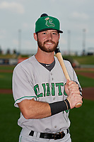 Clinton LumberKings Evan Edwards (18) poses for a photo before a Midwest League game against the Great Lakes Loons on July 19, 2019 at Dow Diamond in Midland, Michigan.  Clinton defeated Great Lakes 3-2.  (Mike Janes/Four Seam Images)
