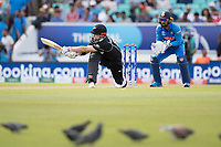 Henry Nicholls (New Zealand) sweeps to the square leg boundary during India vs New Zealand, ICC World Cup Warm-Up Match Cricket at the Kia Oval on 25th May 2019