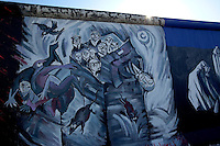24 AUG 2009 - BERLIN, GER - A mural on a remaining section of the Berlin Wall on Muhlenstrafze which is now part of the East Side Gallery. (PHOTO (C) NIGEL FARROW)