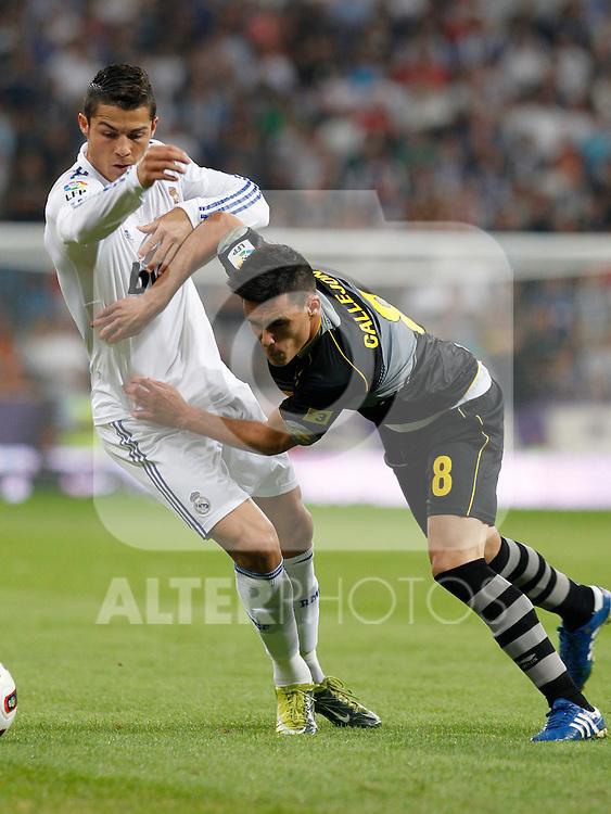 Madrid.- (21/09/10)Estadio Santiago Bernabeu..Campeonato Nacional de Liga..Real Madrid - Espanyol .Cristiano Ronaldo, Callejon...©Alex Cid-Fuentes/AlfaquiFotografia