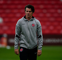 Fleetwood Town manager Joey Barton during the pre-match warm-up<br /> <br /> Photographer Andrew Vaughan/CameraSport<br /> <br /> The EFL Sky Bet League One - Lincoln City v Fleetwood Town - Saturday 31st August 2019 - Sincil Bank - Lincoln<br /> <br /> World Copyright © 2019 CameraSport. All rights reserved. 43 Linden Ave. Countesthorpe. Leicester. England. LE8 5PG - Tel: +44 (0) 116 277 4147 - admin@camerasport.com - www.camerasport.com