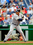 21 August 2009: Milwaukee Brewers' infielder Felipe Lopez at bat against the Washington Nationals, at Nationals Park in Washington, DC. The Brewers defeated the Nationals 7-3 in the first game of their four-game series. Mandatory Credit: Ed Wolfstein Photo