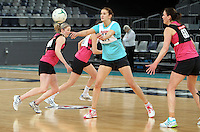 15.09.2012 Australian Karyn Howarth at the Silver Ferns at training at the Hisense Arena In Melbourne ahead of the first netball test match between the Silver Ferns and Australia. Mandatory Photo Credit ©Michael Bradley.