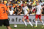 14 JUN 2010: Martin Jorgensen (DEN) (10) and Simon Kjaer (DEN) (3). The Netherlands National Team defeated the Denmark National Team 2-0 at Soccer City Stadium in Johannesburg, South Africa in a 2010 FIFA World Cup Group E match.