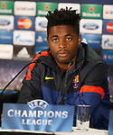 Alex Song at the Champions League press conference