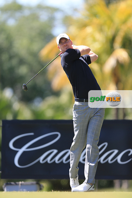 Chris Wood (ENG) on the 11th during day one at the WGC Cadillac championship at Doral Golf Resort & Spa,Doral, Florida,USA..Picture: Fran Caffrey / www.golffile.ie ..