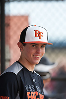 Chase Allsup (13) of Dothan, Alabama during the Baseball Factory All-America Pre-Season Rookie Tournament, powered by Under Armour, on January 13, 2018 at Lake Myrtle Sports Complex in Auburndale, Florida.  (Michael Johnson/Four Seam Images)