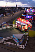 Deserted funfair, Queen Elizabeth Olympic Park, Stratford.