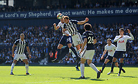 Tottenham Hotspur's Harry Kane vies for possession with West Bromwich Albion's Craig Dawson<br /> <br /> Photographer Ashley Crowden/CameraSport<br /> <br /> The Premier League - West Bromwich Albion v Tottenham Hotspur - Saturday 5th May 2018 - The Hawthorns - West Bromwich<br /> <br /> World Copyright &copy; 2018 CameraSport. All rights reserved. 43 Linden Ave. Countesthorpe. Leicester. England. LE8 5PG - Tel: +44 (0) 116 277 4147 - admin@camerasport.com - www.camerasport.com
