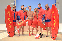 HOLLYWOOD, CA - JULY 12: Madame Tussauds Hollywood unveils new Zac Efron 'Baywatch' wax figure with Carmen Electra and the men of Australia's Thunder from Down Under at Madame Tussauds on July 12, 2017 in Hollywood, California. Credit: David Edwards/MediaPunch