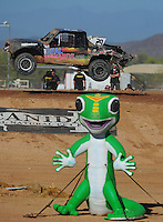 Apr 16, 2011; Surprise, AZ USA; LOORRS driver Richard Cassey (29) during round 3 at Speedworld Off Road Park. Mandatory Credit: Mark J. Rebilas-.