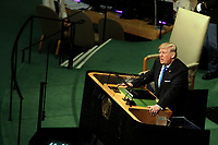 SEP 19 U.S. President Donald Trump speaks at UN General Assembly